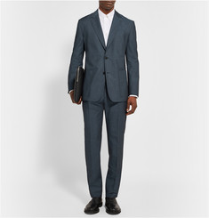 Maison Margiela Blue Unstructured Wool and Cotton-Blend Twill Suit Jacket