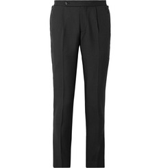 Maison Margiela Black Slim-Fit Wool and Mohair-Blend Trousers