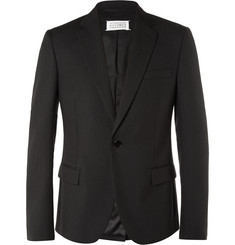 Maison Margiela Black Slim-Fit Wool and Mohair-Blend Blazer