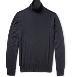 Brioni Fine-Knit Wool Rollneck Sweater