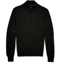 Brioni Slim-Fit Half-Zip Wool Sweater