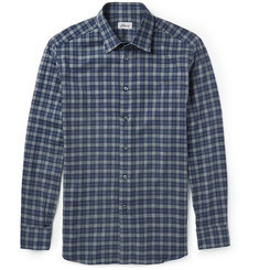 Brioni Checked Brushed-Cotton Shirt