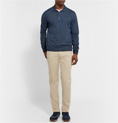 Brioni Slim Fit Cotton-Twill Trousers