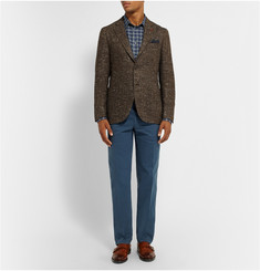 Brioni Brushed-Cotton Trousers