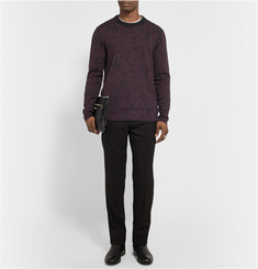 Lanvin Honeycomb-Patterned Wool-Jacquard Sweater