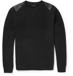 Lanvin Leather-Trimmed Cotton-Blend Sweatshirt