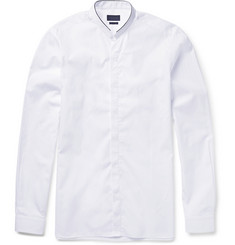 Lanvin Slim-Fit Band-Collar Cotton-Poplin Shirt