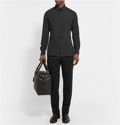 Lanvin Slim-Fit Brushed-Wool Shirt