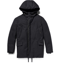 Lanvin Wool and Cotton-Blend Down Hooded Parka