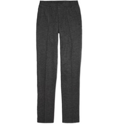 Lanvin Slim-Fit Herringbone Wool Trousers