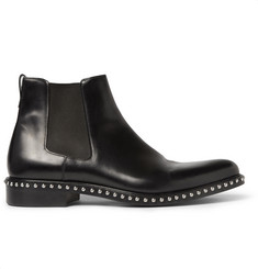 Givenchy Studded Polished-Leather Chelsea Boots