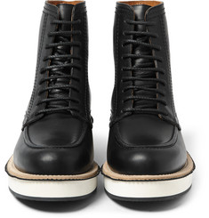 Givenchy Contrast-Sole Leather Boots