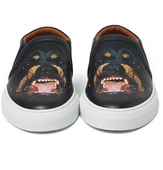 Givenchy Rottweiler Leather Skate Shoes