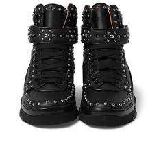 Givenchy - Tyson Studded Leather High-Top Sneakers