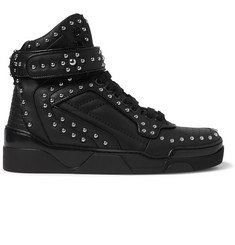 Givenchy Tyson Studded Leather High-Top Sneakers