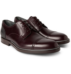 Lanvin Cap-Toe Leather Derby Shoes