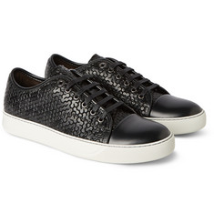 Lanvin - Embossed Leather Sneakers