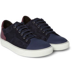 Lanvin - Leather, Suede and Rubber Sneakers