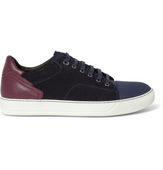 Lanvin Leather, Suede and Rubber Sneakers