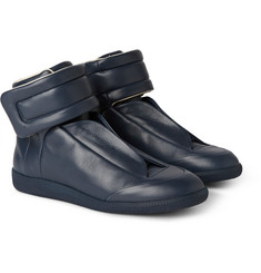 Maison Margiela Future Panelled Leather High-Top Sneakers