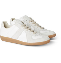 Maison Margiela Replica Panelled Leather and Suede Sneakers