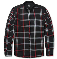 McQ Alexander McQueen Contrast Shoulder-Panel Checked Cotton Shirt