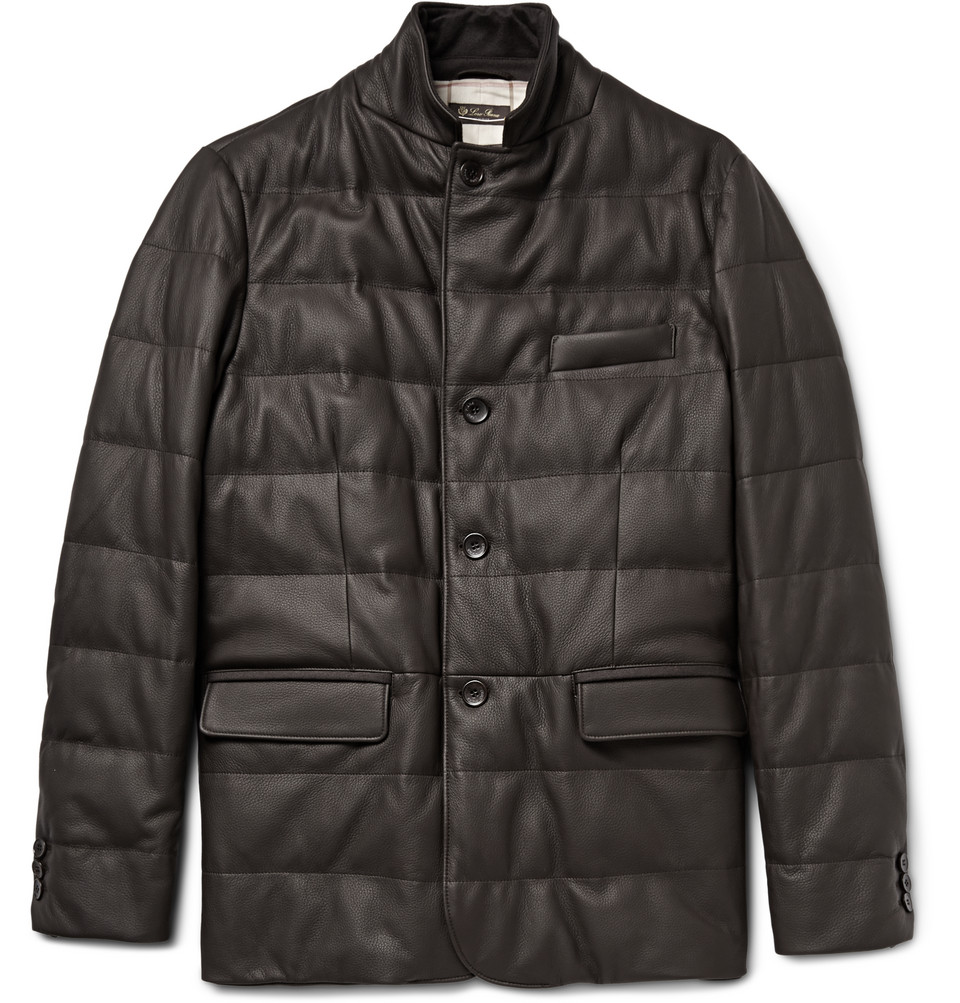 Loro Piana Martigny Cashmere-Trimmed Quilted Leather Jacket