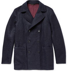 Loro Piana - Suede-Trimmed Double-Faced Woven Cashmere Peacoat