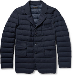 Loro Piana Cloudey Rain System Quilted Cashmere-Twill Jacket