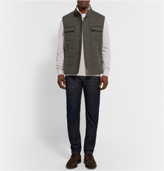 Loro Piana Voyager Storm System Quilted Wool and Cashmere-Blend Gilet