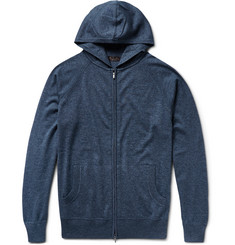 Loro Piana Portland Zip-Up Silk and Cashmere-Blend Hoodie