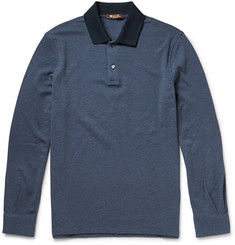 Loro Piana Stretch Cotton and Cashmere-Blend Polo Shirt