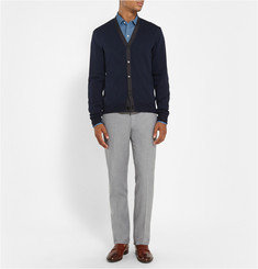 Loro Piana Stretch-Cotton Flannel Trousers