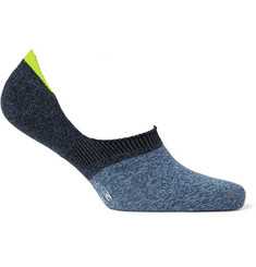 Mr. Gray Mélange Stretch-Knit Loafer Socks
