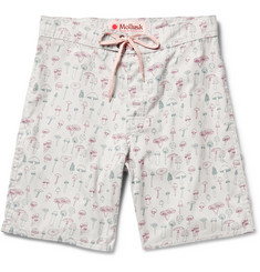 Mollusk Mushroom-Print Cotton-Blend Swim Shorts