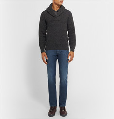 Brioni Slim-Fit Washed-Denim Jeans