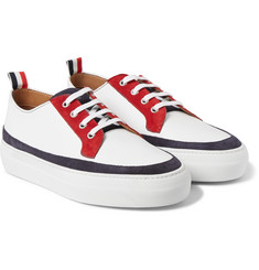 Thom Browne Grained-Leather and Suede Sneakers