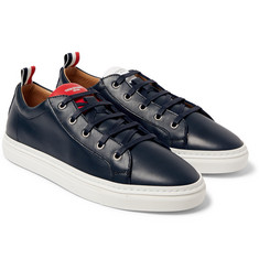 Thom Browne Leather Low-Top Sneakers