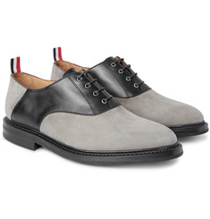 Thom Browne Nubuck and Leather Oxford Shoes