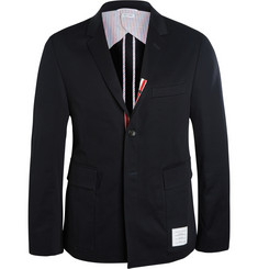 Thom Browne Slim-Fit Cotton Patch-Pocket Blazer