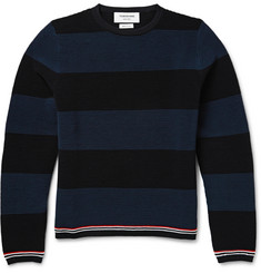 Thom Browne Striped Ribbed-Knit Wool Sweater