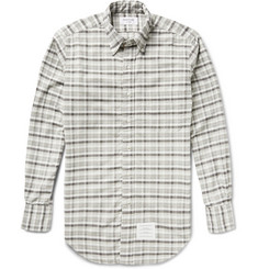 Thom Browne Slim-Fit Checked Cotton Oxford Shirt
