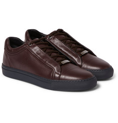 Brioni James Leather Low Top Sneakers