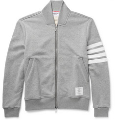 Thom Browne Zip-Through Loopback Cotton-Jersey Sweatshirt