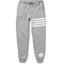 Thom Browne Striped Cotton-Jersey Sweatpants