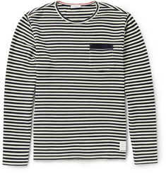 Thom Browne Striped Wool-Jersey T-Shirt