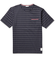 Thom Browne Window-Pane Check Cotton-Jersey T-Shirt