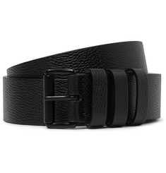 Lanvin 4cm Leather and Burnished Metal Belt