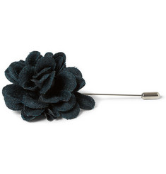 Lanvin Wool and Cashmere-Blend Flower Lapel Pin