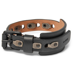 Lanvin Leather and Burnished Metal Bracelet